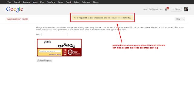 Google Add URL   Cepat Index Blog Baru