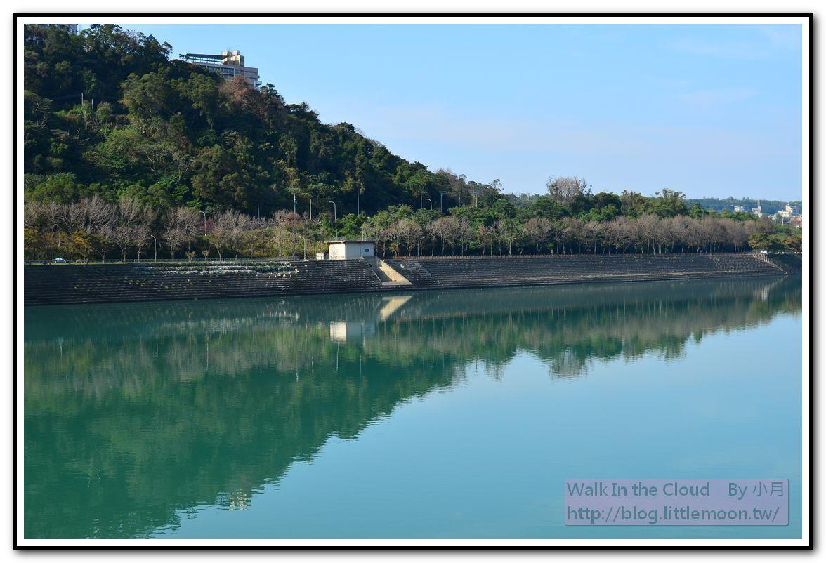 後池對岸山與湖相映