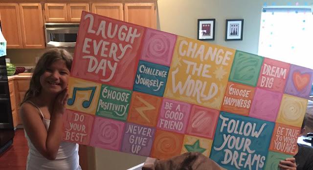 positivity mural, diva board, positivity board, vision board, handpainted vision board