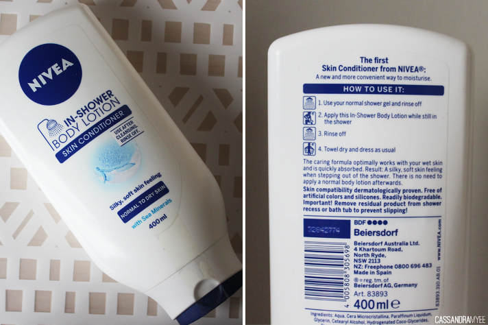 BEAUTY REVIEW // Beauty Vault Haul - Nivea In-Shower Body Lotion - cassandramyee