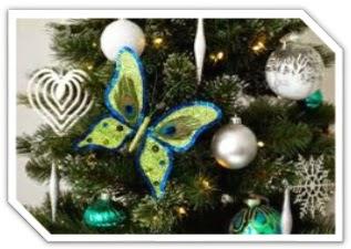 como hacer mariposas para el arbol de navidad, mariposas para el arbol de navidad, mariposas para decorar el arbol de navidad, mariposas para decoracion de arbol navideño, manualidades de papel para el arbol, manualidades navideñas para decorar arbol