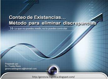 """ADQUIERA EL CURSO """"CONTEO DE EXISTENCIAS. MÉTODO PARA ELIMINAR DISCREPANCIAS"""""""