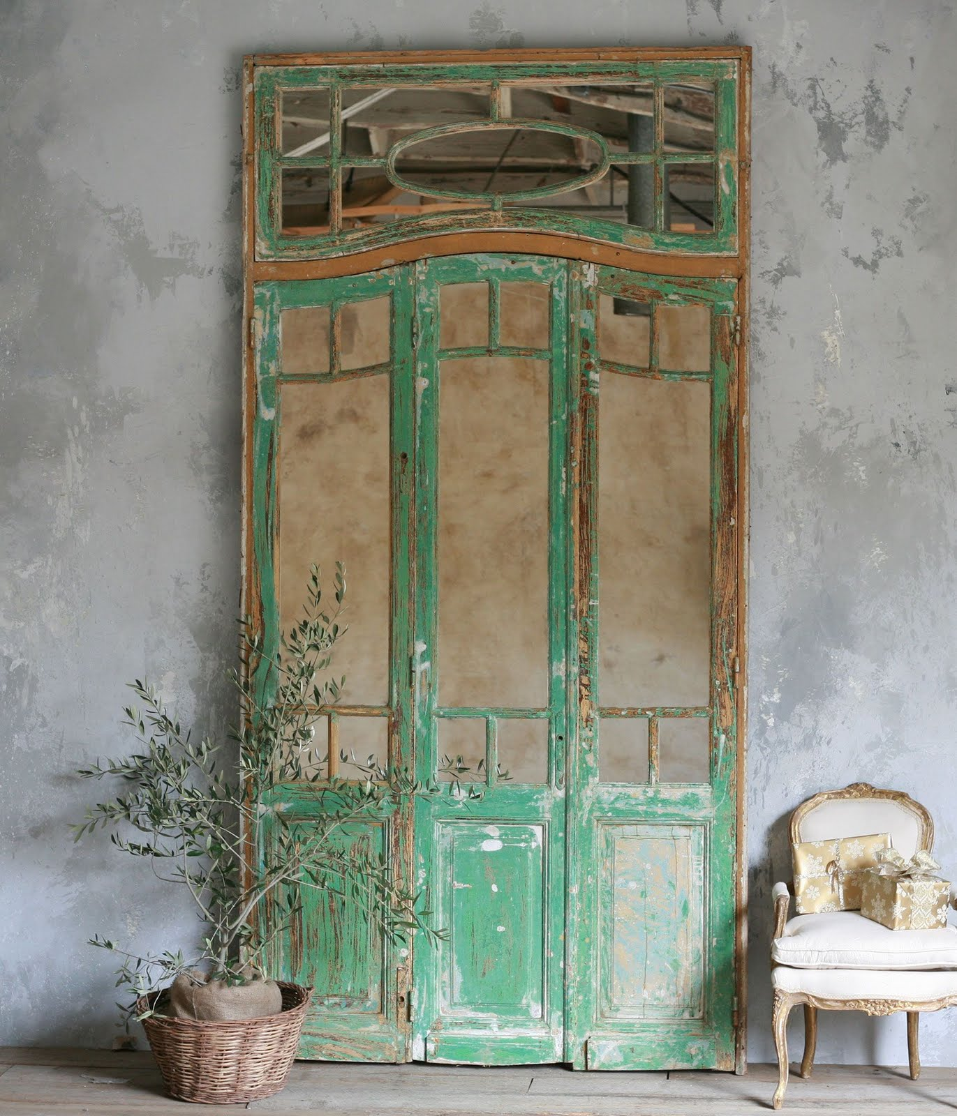 Old Door Mirror