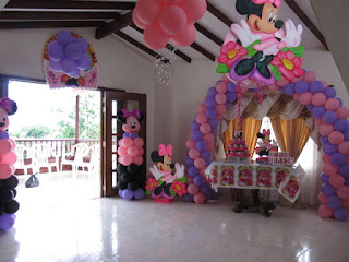 DECORACION GLOBOS MINNIE MOUSE 1 RECREACIONISTAS MEDELLIN
