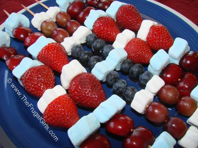 Fruit Kabobs for The Fourth of July