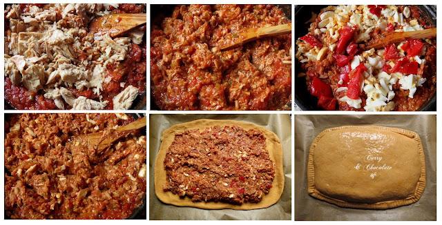 Preparando la empanada