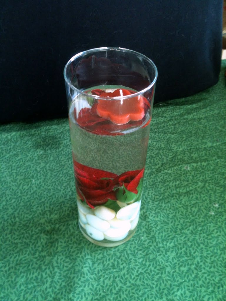 Daffodil Moon Crafts: Floating Candle Floral Centerpieces
