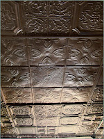 Pressed metal ceiling, Agenda, Kansas