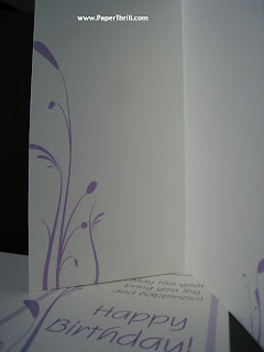 Lavender vines wedding card
