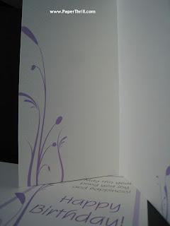 Lavender vines wedding card