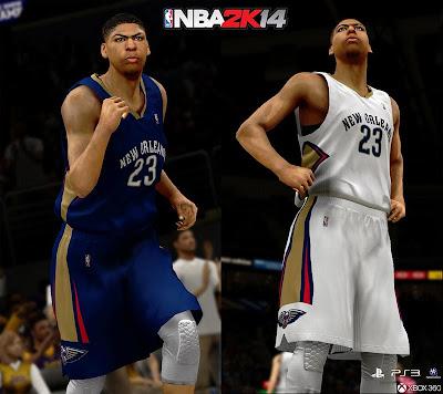 New Orleans Pelicans Jerseys in NBA 2K14
