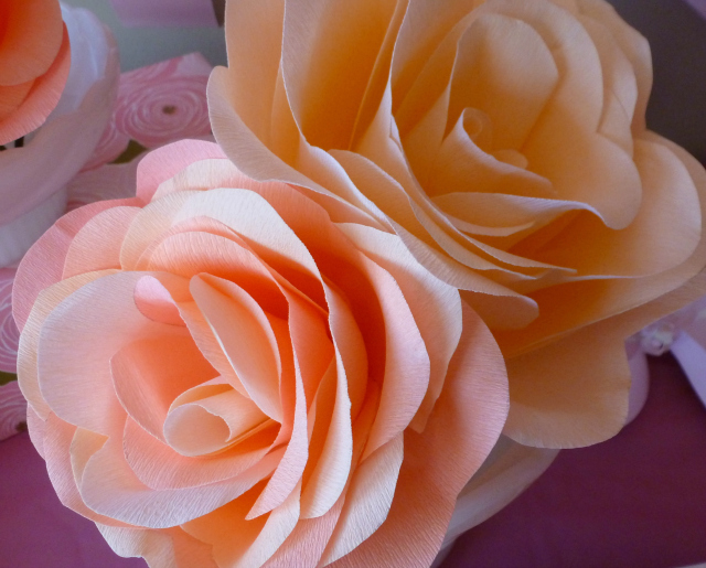Diy crepe paper flower tutorial design improvised diy crepe paper rose tutorial mightylinksfo