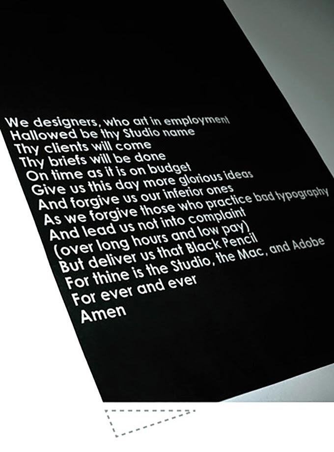 Designers Prayer