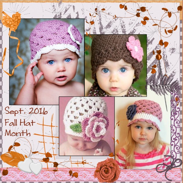 Sept. 2016  Fall Hat Month