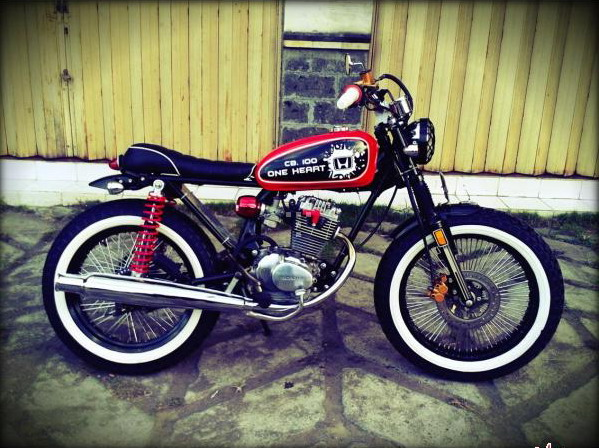 Modifikasi Honda CB 100 Retro