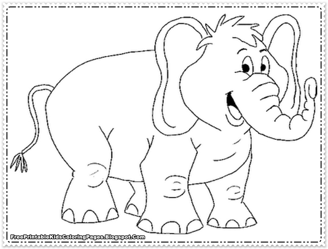 free coloring pages of elephant - photo#36