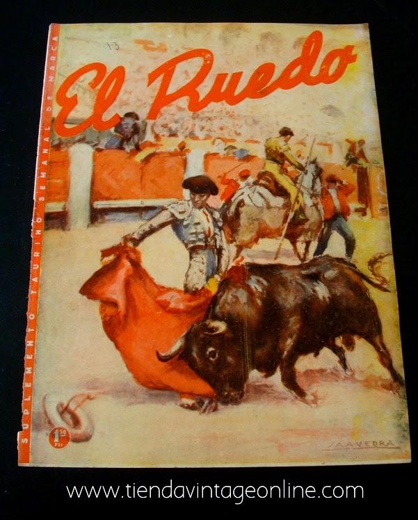 Comprar carteles vintage online. Posters vintage en valencia. Revista taurina para colección.