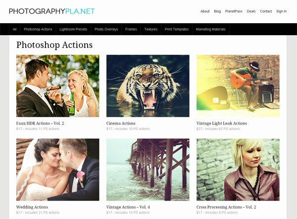 Free download Actions Photography Planet... Download plungin Actions Photography