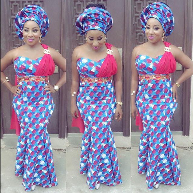 twinglestyle: Beautiful Ankara Long Gown Design For Ladies