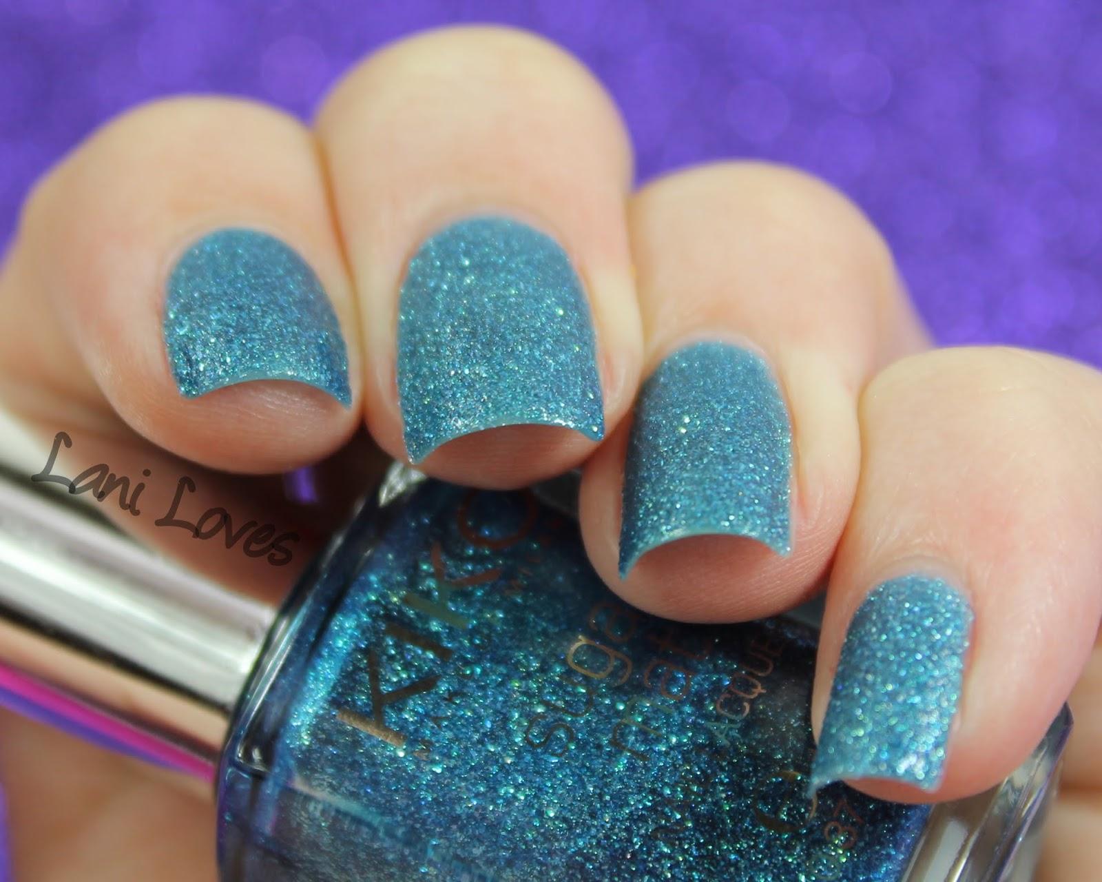 Kiko Sugar Mat Teal Green nail polish swatch & review