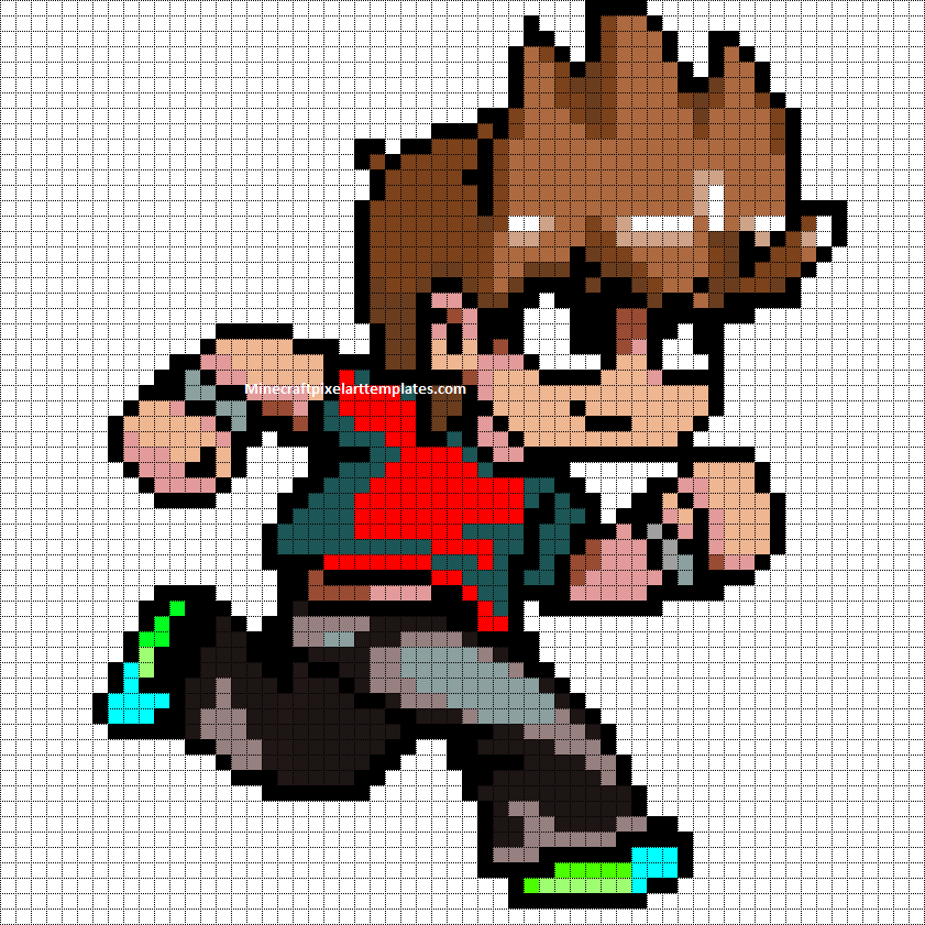 Minecraft Pixel Art Templates  Scott Pilgrim Vs The World