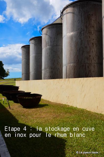 Martinique - distillerie Depaz - cuves en inox pour le rhum blanc