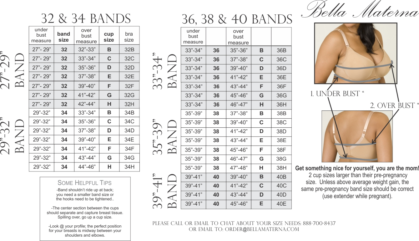H Cup Breast Size The band size is of primary