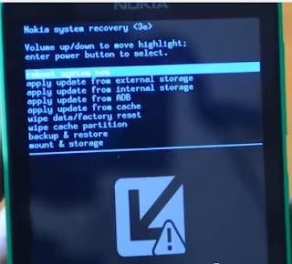 Nokia x2 dual sim Recovery Menu