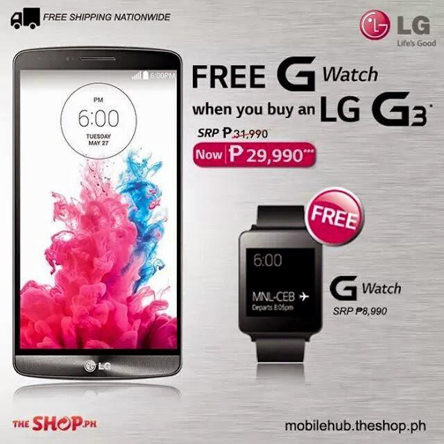 LG G3 Promo Free LG G Watch