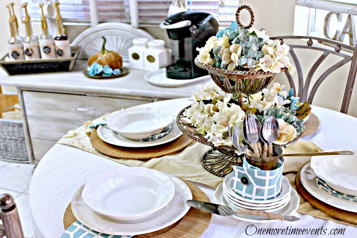 Fall Tablescape at One More Time Events.com