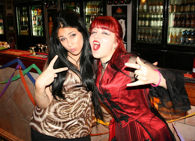 Snooki costume and vampire costume