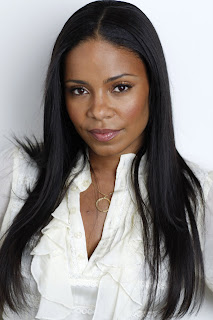 Sanaa Lathan black long straight hairstyle