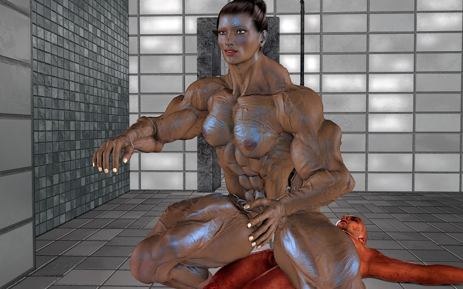 3d muscle girl naked photos