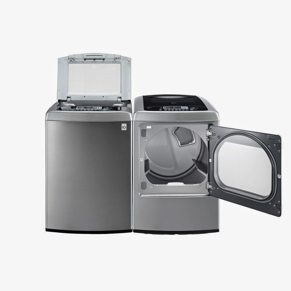 graphite steel lg pair with wave force technology with dryer washer