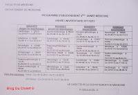 Programme de la 4eme année (2011/2012)