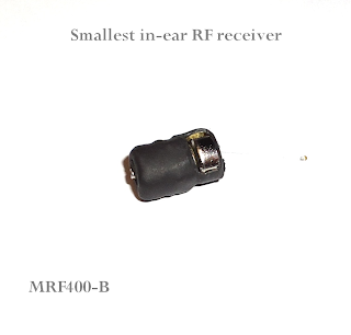 spy micro earpiece, RF receiver in the ear