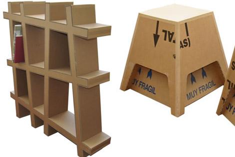Departamento de madera y mueble del i e s le n felipe de torrej n de ardoz muebles hechos con - Estanteria carton ...