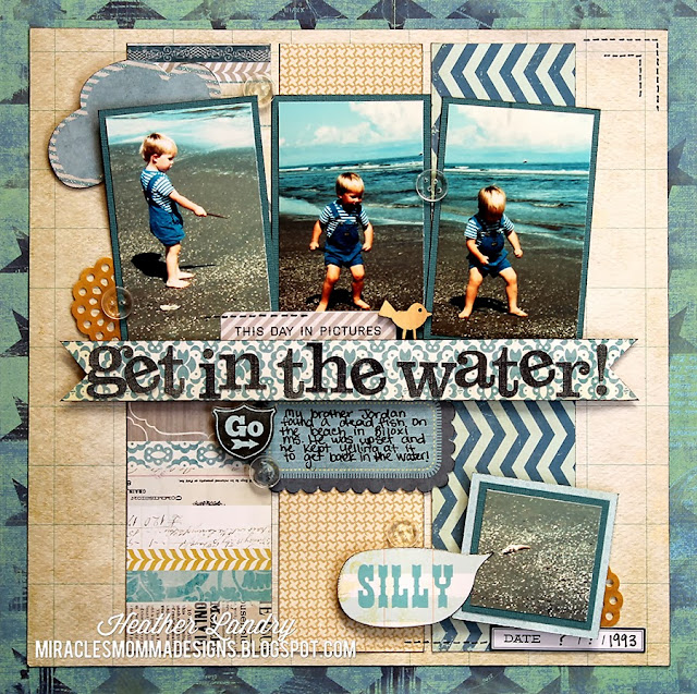 Little Boy_Beach Layout_Travel Scrapbook