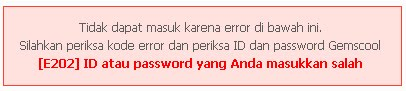 Error Gagal Login Gemscool Point Blank Masuk www.gemscool.com