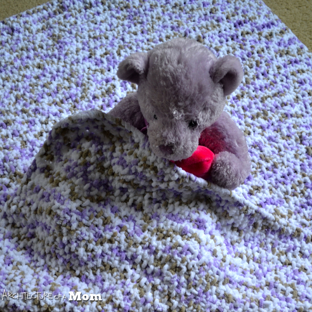 Knit Seed Stitch Baby Blanket : Architecture of a Mom: Tweedy Seed Stitch Knit Baby Blanket