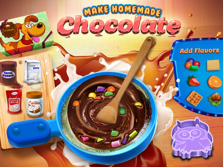Chocolate Crazy Chef - Make Your Own Box of Chocolates App iTunes App By TabTale LTD - FreeApps.ws