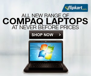 HP Compaq Laptops @ Never Before Price (4th Gen Core-i3 , 4GB, 500GB, 15.6″, HD LED) : Get 10% Cash Back + Brand Offer (Price Starts from Rs.25190) Valid till 18th Aug'14