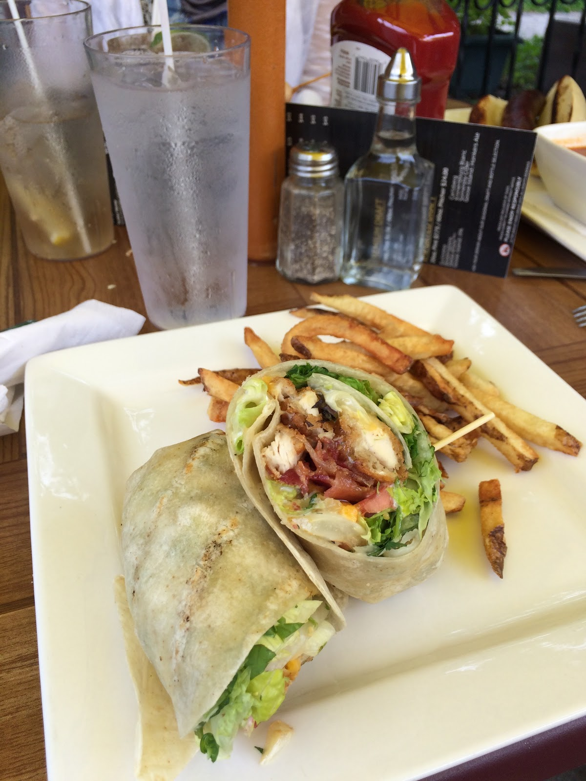 Crispy chicken wrap at the Barley Mow pub in Almonte, Ontario