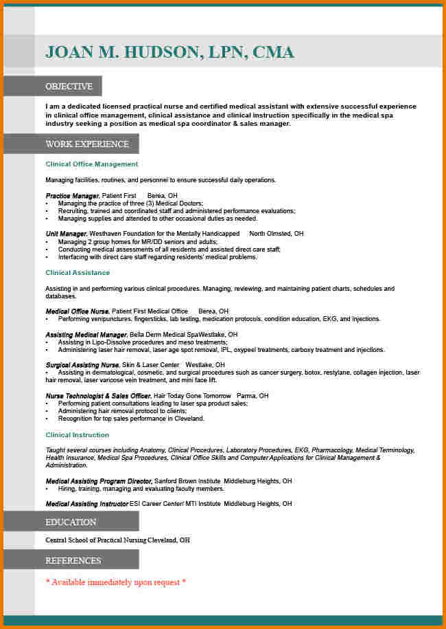 resume for job switch