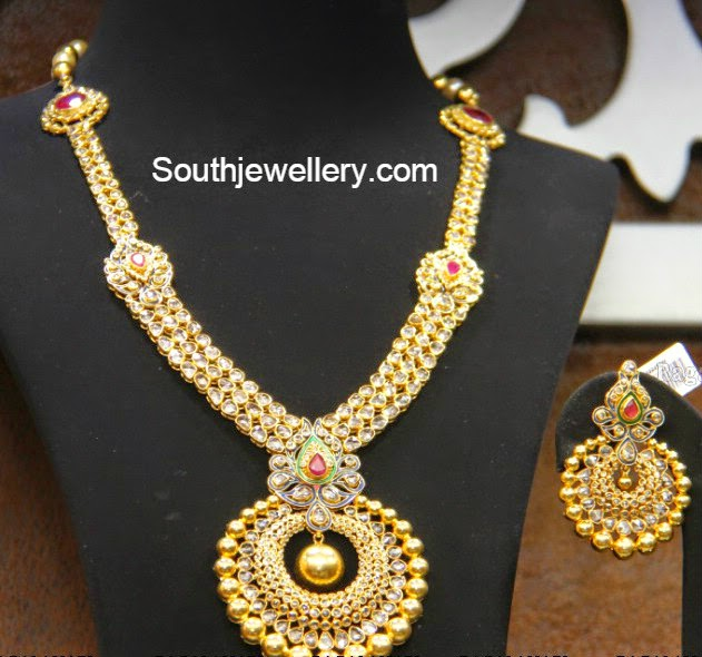 pacchi necklace with chandbali pendant