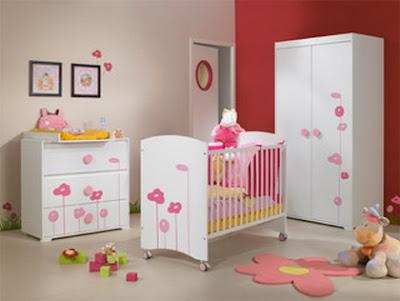 Dormitorio rojo colores bebe