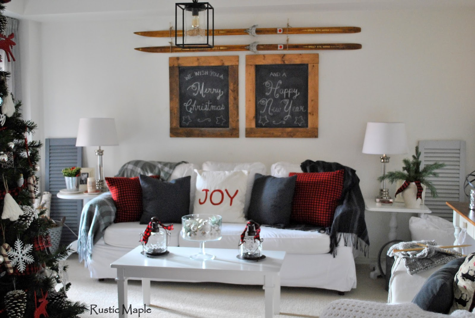 rustic maple our rustic farmhouse christmas home tour 2015