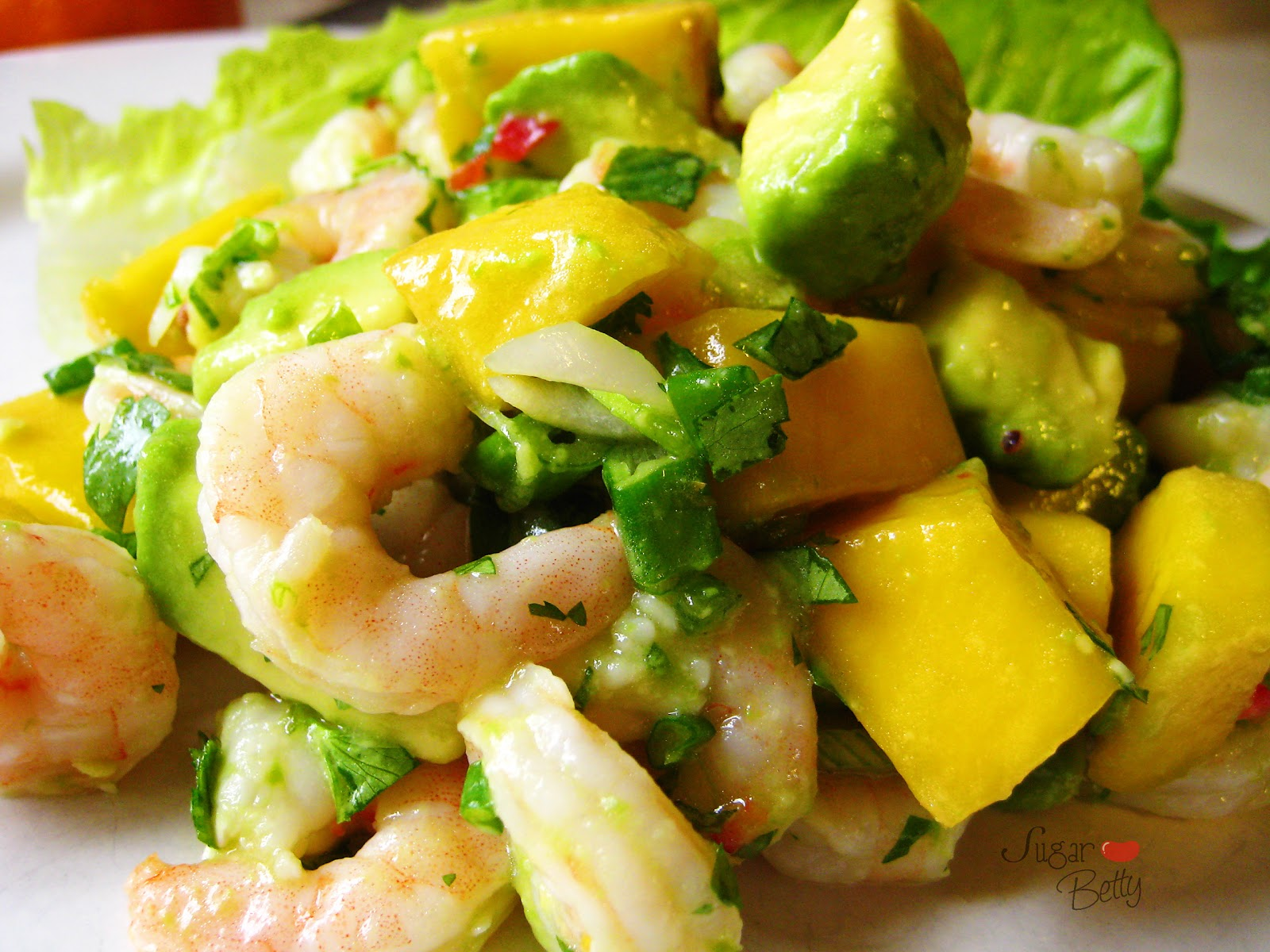 Sugar.Betty: Mango Avocado Shrimp Salad