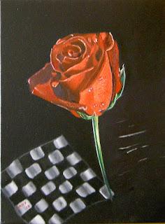 oleo de una rosa