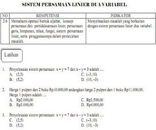 bank soal ujian un matematika